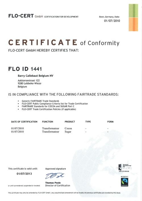 Fair Trade Zertifikat