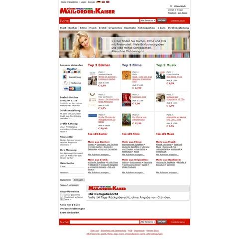 MAIL:ORDER:KAISER Webseite
