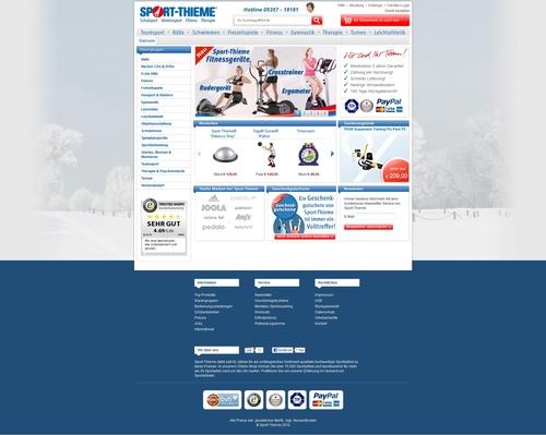 Sport Thieme Webseite