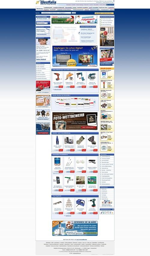 Westfalia Webseite