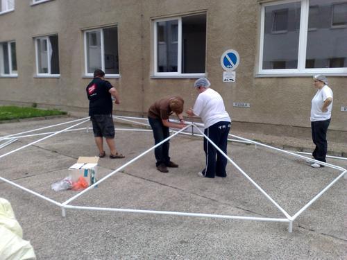 Sommerfest Aufbau