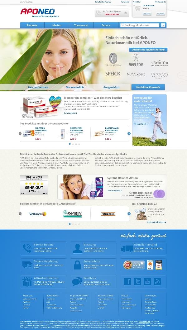 Aponeo Webseite