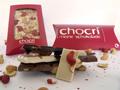 Schokoladentafel mit Zutaten