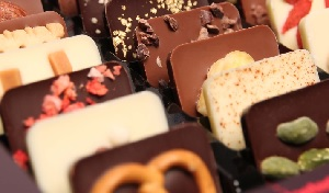 Detailaufnahme chocri Schokolade