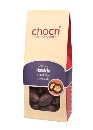 Gebrannte Mandeln in Zartbitterschokolade