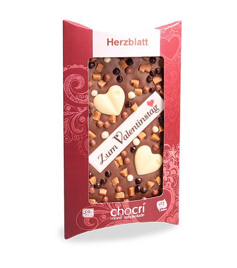 Herz-Schokolade Herzblatt