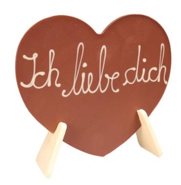 Schokoladenherz mit Schriftzug - Ich liebe Dich