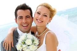 Brautpaar in den Flitterwochen