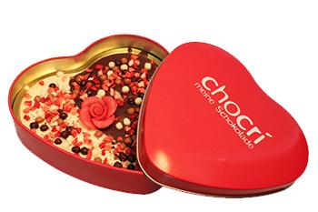 Herz-Schokolade als Hochzeitsgeschenk