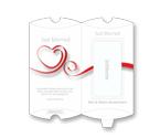 Eure Hochzeitsverpackung in schickem Weiß-Rot