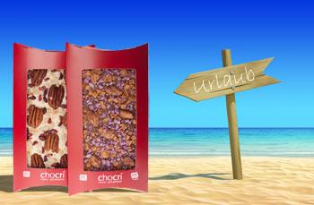 Schokolade am Strand