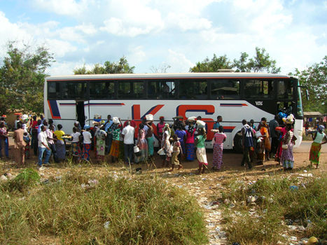 Bus in Afrikai