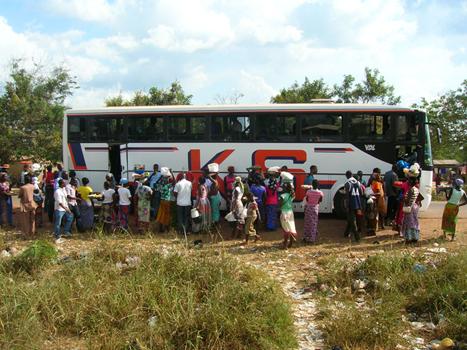 Bus in Afrikai