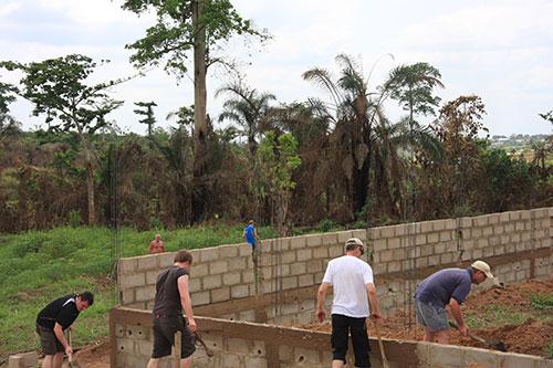 Bau des Kinderheims