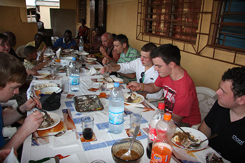 Essen beim Bürgermeister